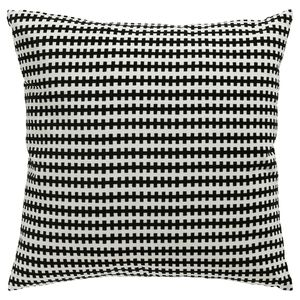 PILLOW COVERS: 2 Ikea black and off white